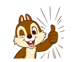 Check Out The Chip N Dale Animated Stickers Sticker By The Walt Disney Company Japan Ltd On Chatsticker Com Funny Emoticons Animation Chip And Dale