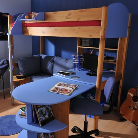 futon bunk bed with desk design ideas - Futon Bedroom Ideas