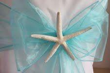 Beach Wedding Starfish Chair Decorations