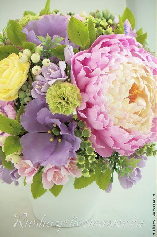 """Купить Цветы из полимерной глины. Букет """"Возвращение весны"""" - разноцветный, цветы ручной работы"""
