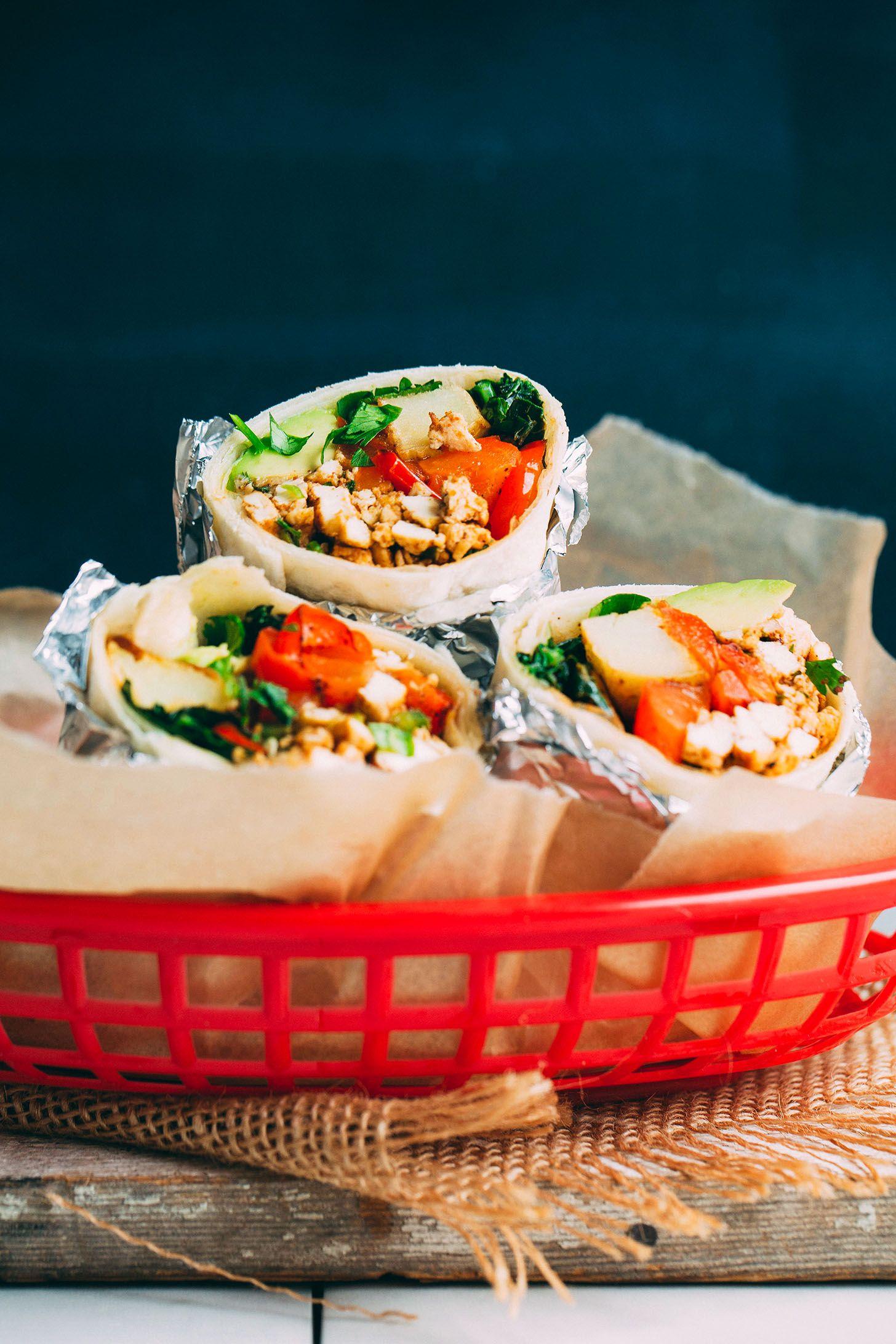 Scrambled Tofu Breakfast Burrito 30 Minutes