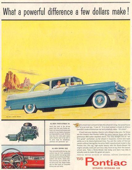 Pontiac 2-Door Sedan 1955 Monumente - Mad Men Art: The 1891-1970 Vintage Advertisement Art Collection