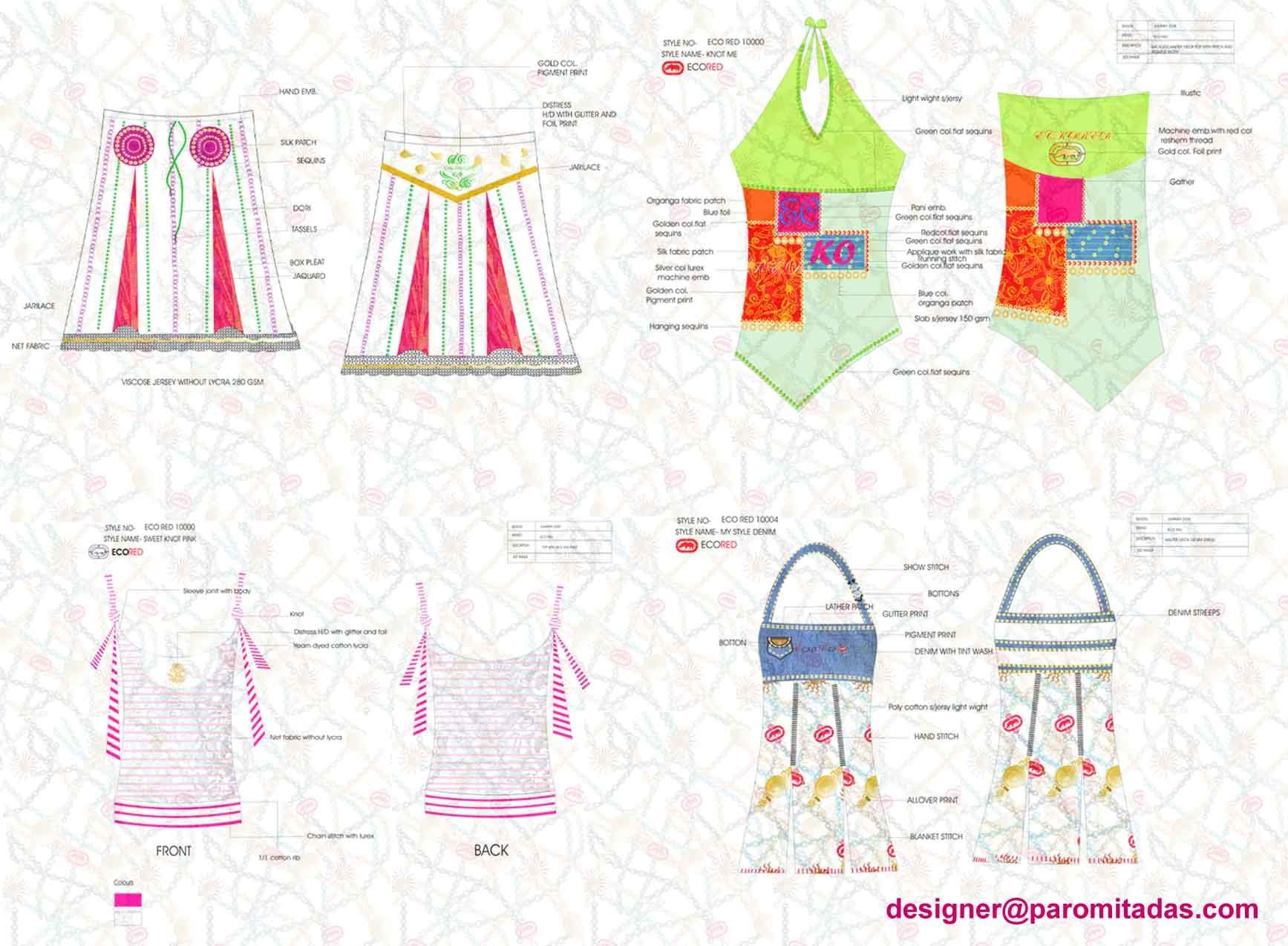 Complete Line Sheet Design Girls Wear For One Of The