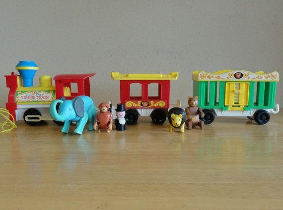 vintage fisher price circus train
