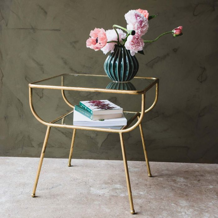 Eluminea Large Gold Side Table In 2020 Gold Side Table Table Decor Living Room Glass Table Living Room