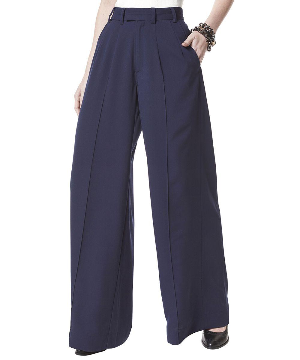 e87d315d8 Calça Pantalona Herchcovitch em Crepe Azul Marinho - cea Comprar Roupas  Femininas