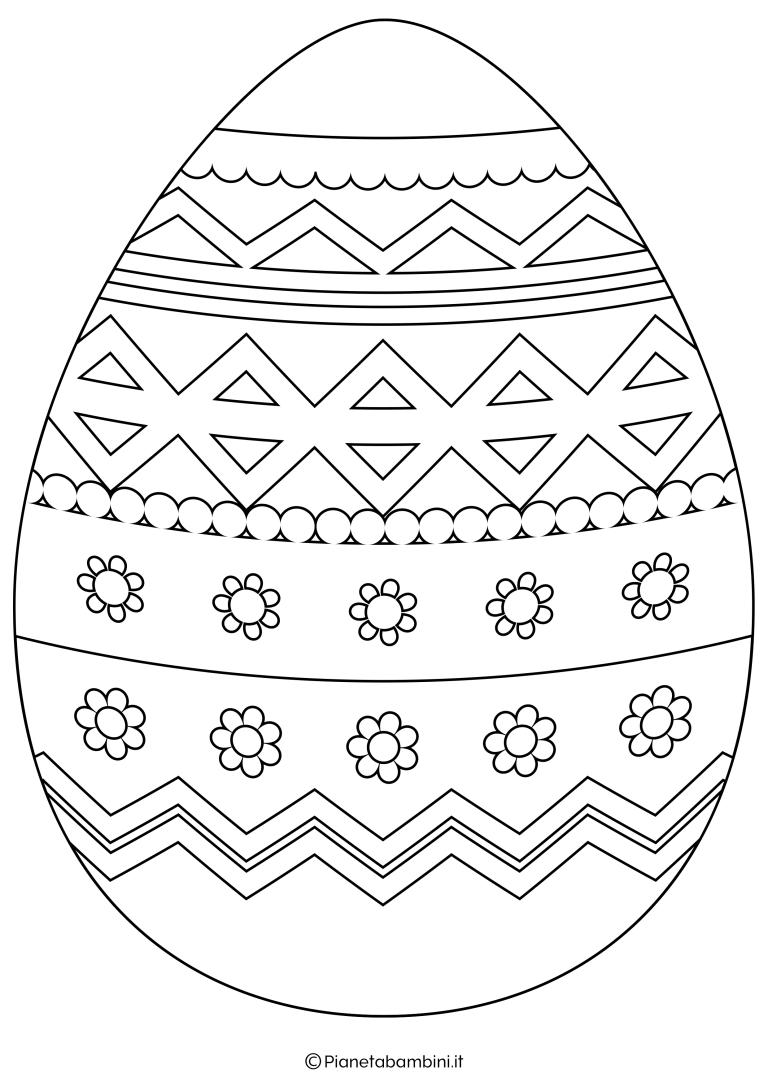 Sagome E Disegni Di Uova Di Pasqua Da Stampare E Colorare Uova