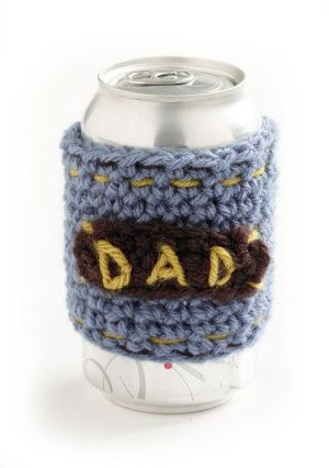 Crochet Dad Can Cozy by KidzWorld on Etsy