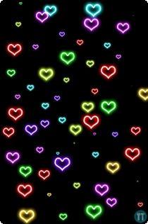 Neon Heart Wallpaper Background