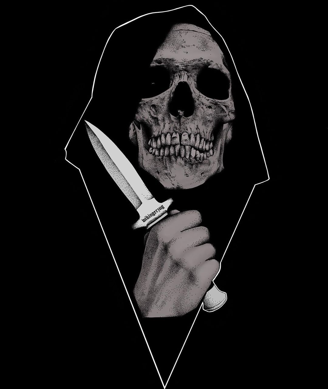 "Sergey Svetov on Instagram: ""• wikingerzug • in color • #skull #skulls #skulltattoo #skulltattoos #skullart #skeleton #darkart #darkarts #darkartist #darkartists…"""