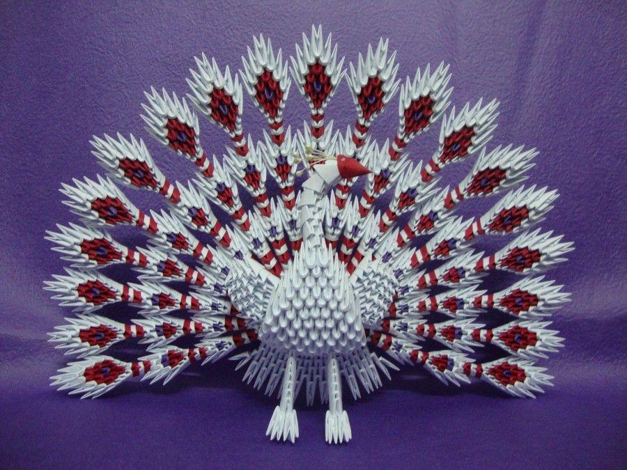 Peacock 3d origami | ORIGAMI 2 | Chat origami, Origami