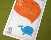 Cute Creatures Calendar 2013 Printable Digital PDF Kawaii Yearly Month