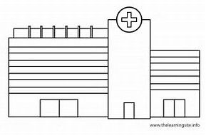 Image Result For Hospital Building Coloring Pages