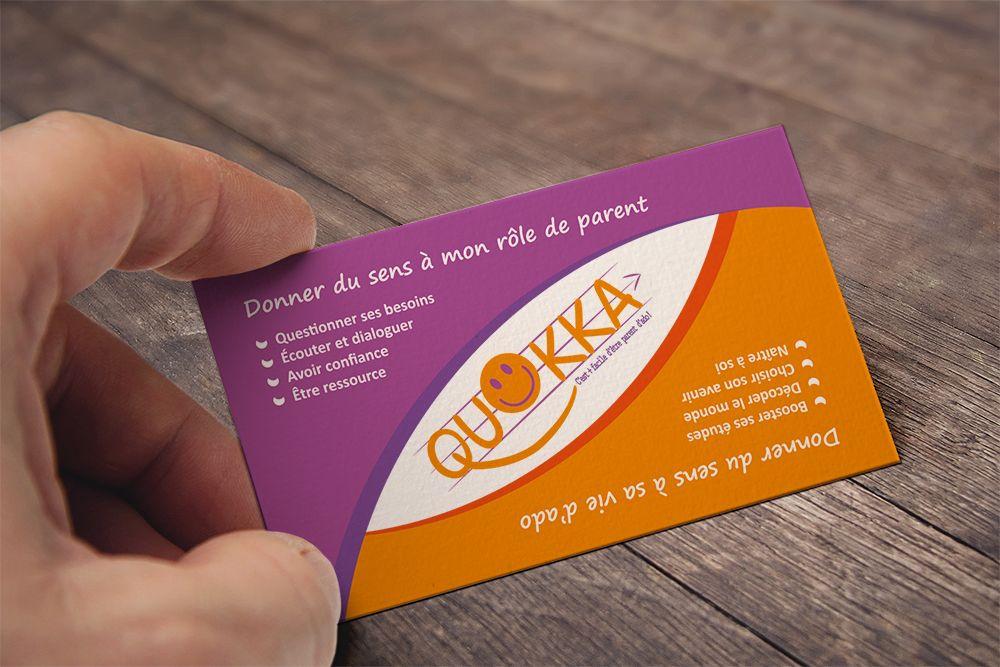 Verso Carte De Visite Realisee Pour L Association Quokka Www