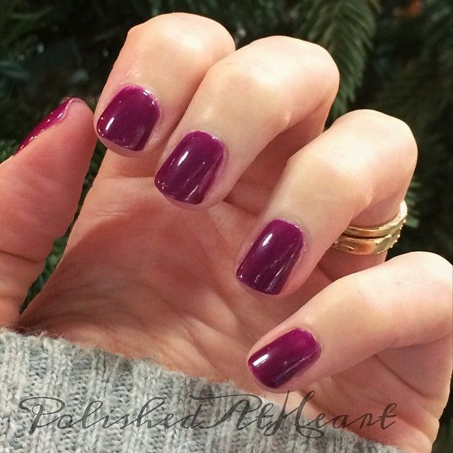 Wine Colored Nail Polish: Sinful Shine By Sinful Colors