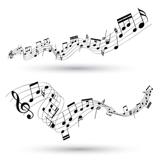 Abstract Musical Background Free Vector Signs Musicals Music