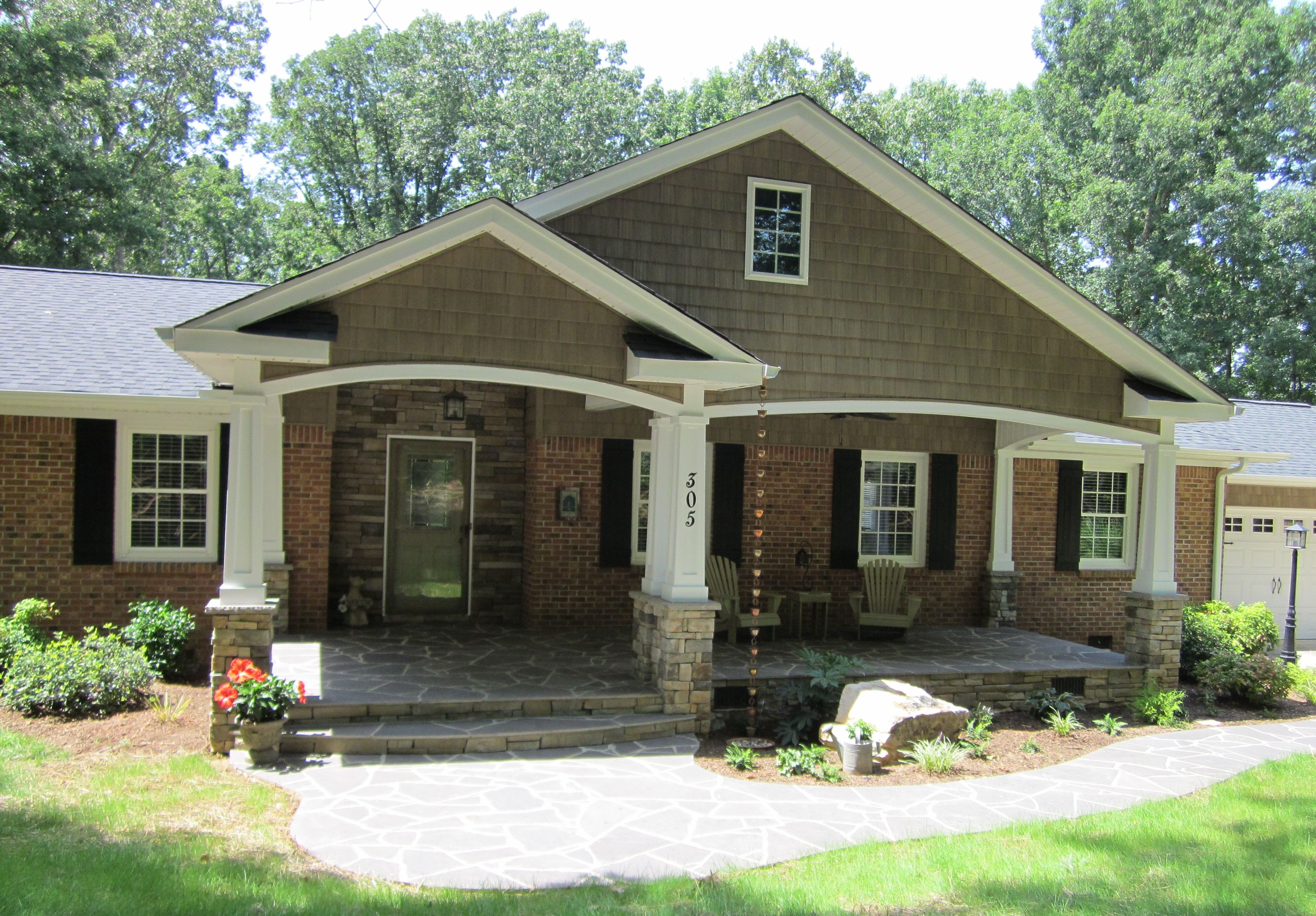 love this grey house with brick and porch curb appeal pinterest grey houses bricks and porch
