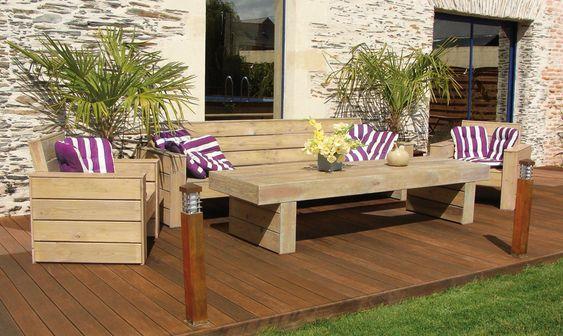 Garten-Sitzgruppe aus Holz JURA #LoungeGartenmöbel ...