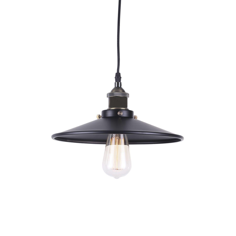 Lámpara de suspensión de estilo vintage, ideal para iluminar de forma sencilla cualquier estancia con un estilo industrial inconfundible. Fabricada en acero al carbono de color negro. Disponible en un tamaño de pantalla menor y otro de mayor tamaño. Funciona con bombilla E27 1*40 (no incluida). Puede utilizar bombillas de estilo vintage ideales para esta lámpara en nuestra sección BOMBILLAS.