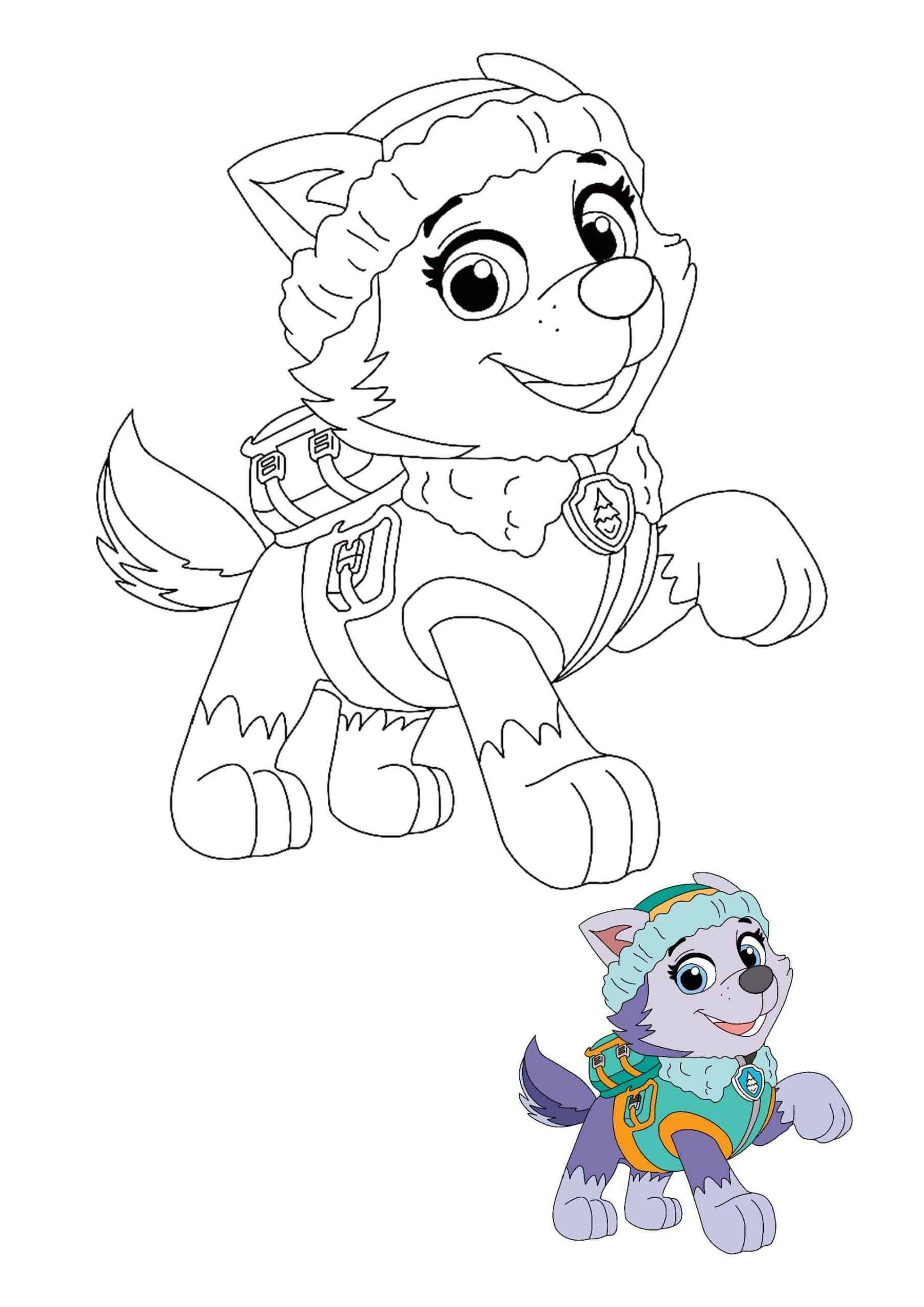 Paw Patrol Everest Coloring Pages Paw Patrol Coloring Everest Paw Patrol Free Printable Coloring Sheets