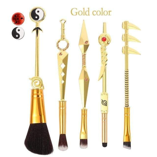 Photo of Naruto Anime Themed Makeup Brushes Set – gold