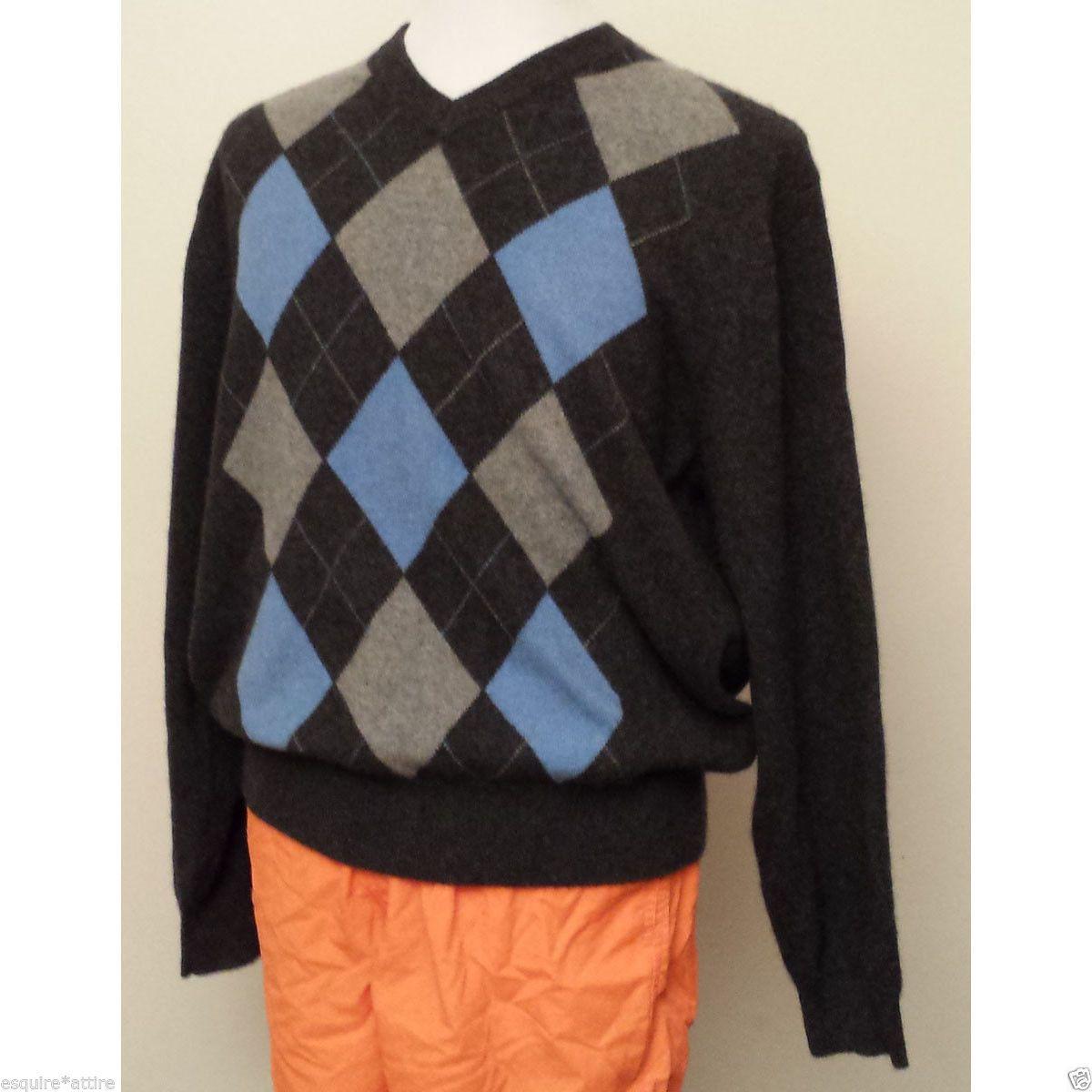 Details about Paolo Mondo Men Size XL Cashmere Sweater V-Neck ...