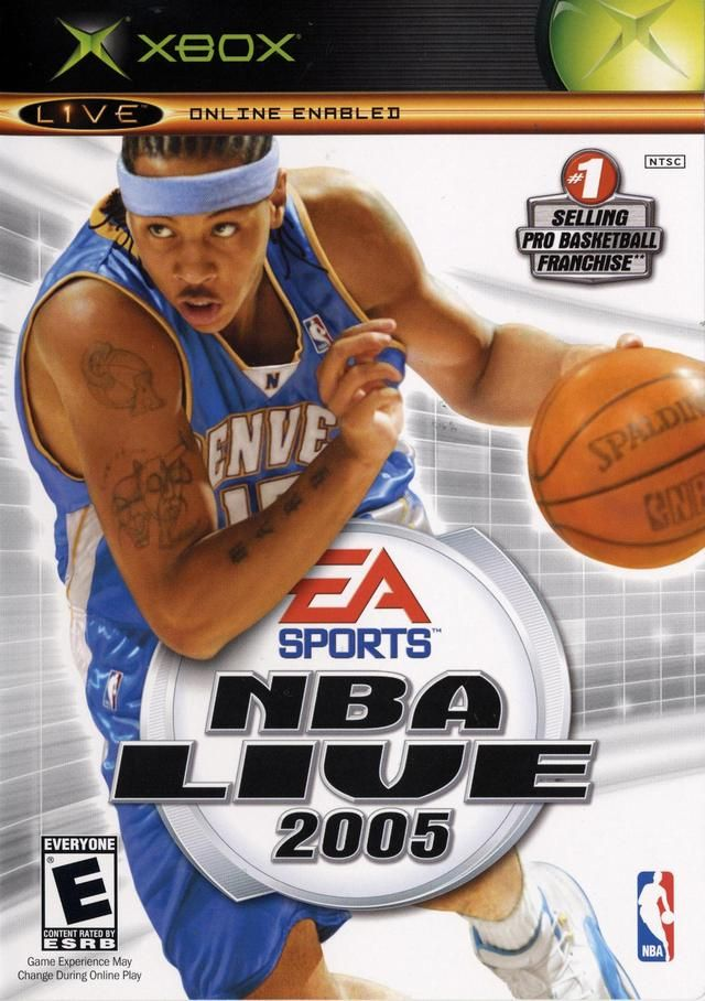Nba Live 2005 Xbox On The Cover Carmello Anthony Denver Nuggets