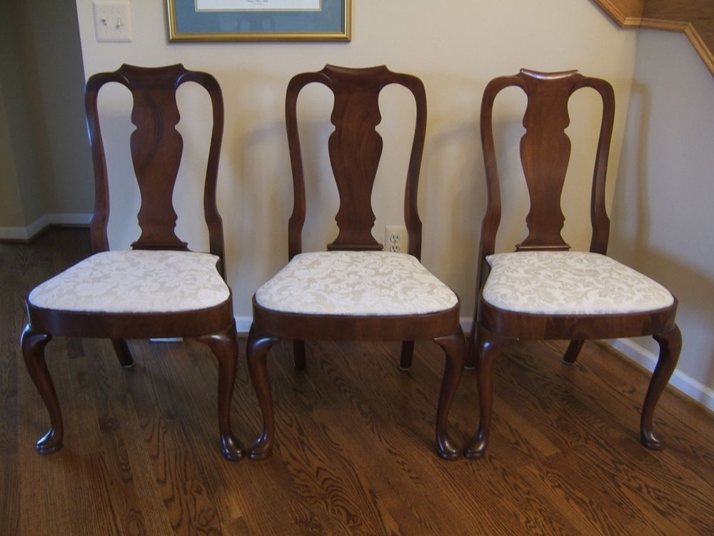 Captivating 1960s Vintage Pennsylvania House Georgian Style Solid Cherry Dining Chairs,  SIX #PennsylvaniaHouse $1249