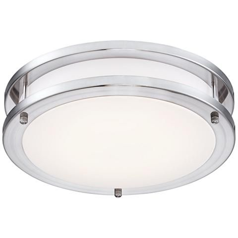 Leeds 12 wide satin nickel led ceiling light 8f226 lamps plus