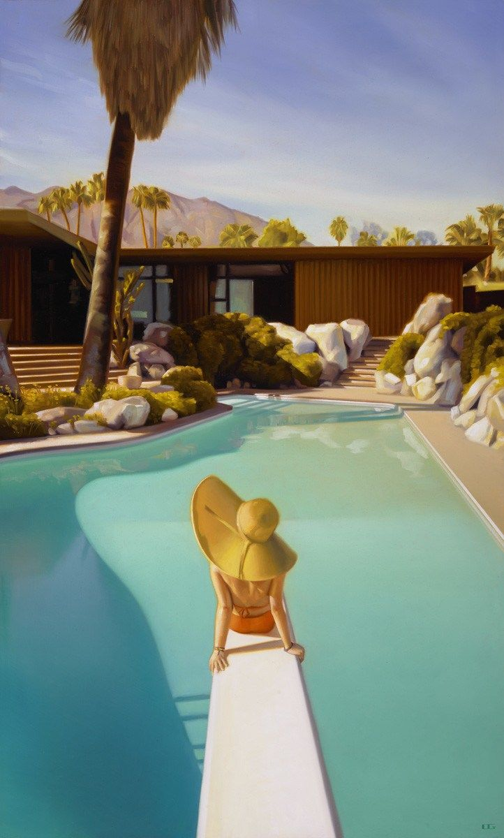 Carrie Graber Paints Pools, Palm Springs Architecture and ...