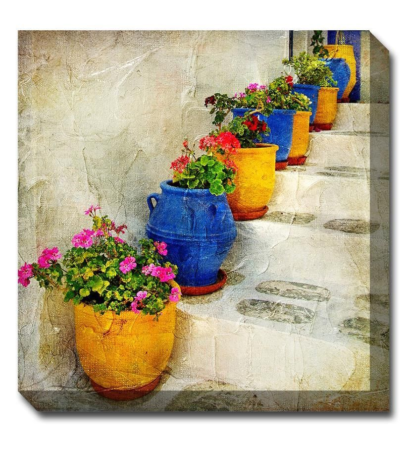 Bright Pots Canvas Wall Art | Bright, Canvases and Outdoor art
