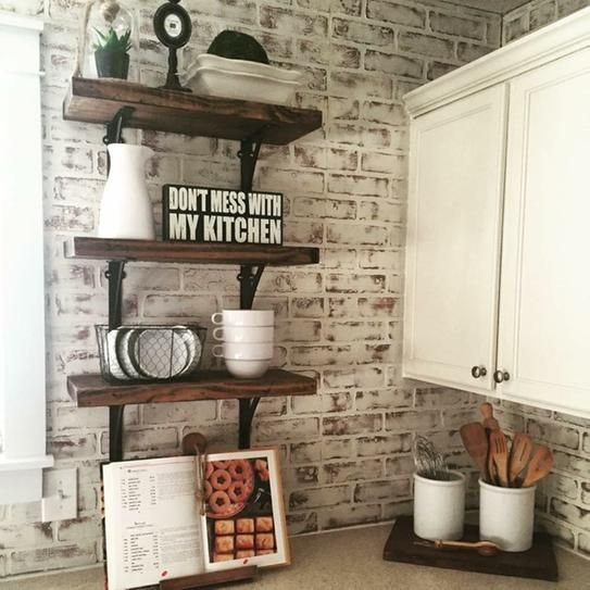 User Submitted Photo Brick Wall Paneling Brick Kitchen Kitchen Remodel
