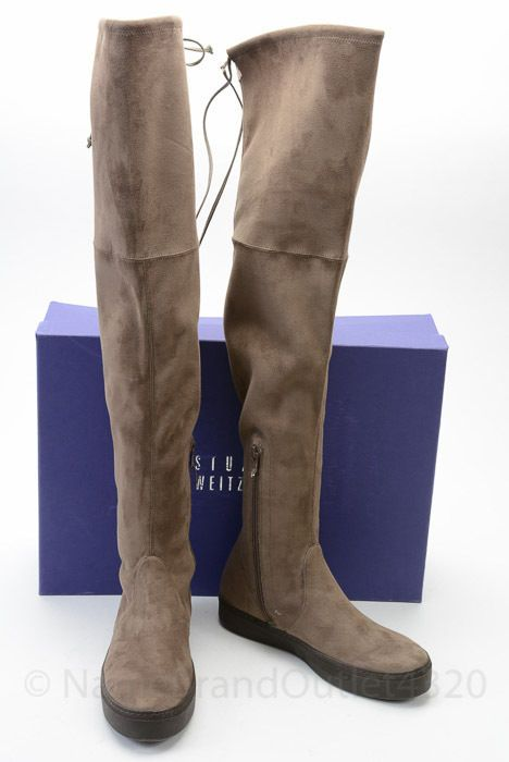 5b1e4eead79 Stuart Weitzman Playtime swamp brown 7.5 ultrasuede over the knee boot shoe   598  StuartWeitzman  FashionOvertheKnee