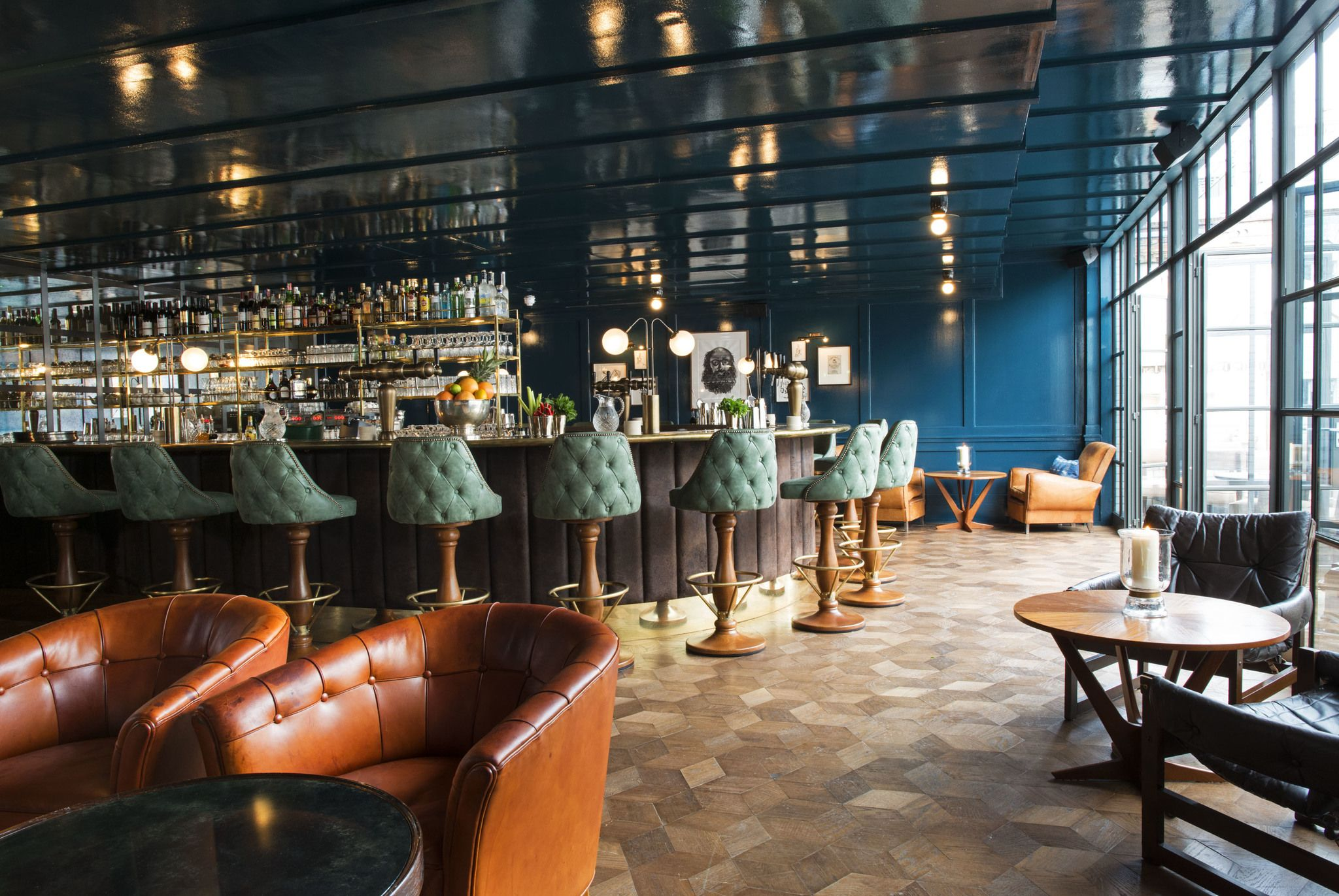 Restaurant & bar design | panelling | Soho House | 76 Dean Street ...