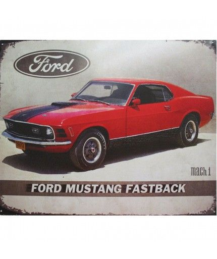 Ford Mustang Fastback Mach 1 Metal Print