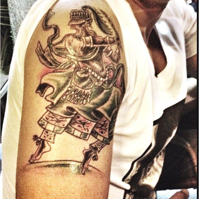 Ogun - God Of War.   Tattoo