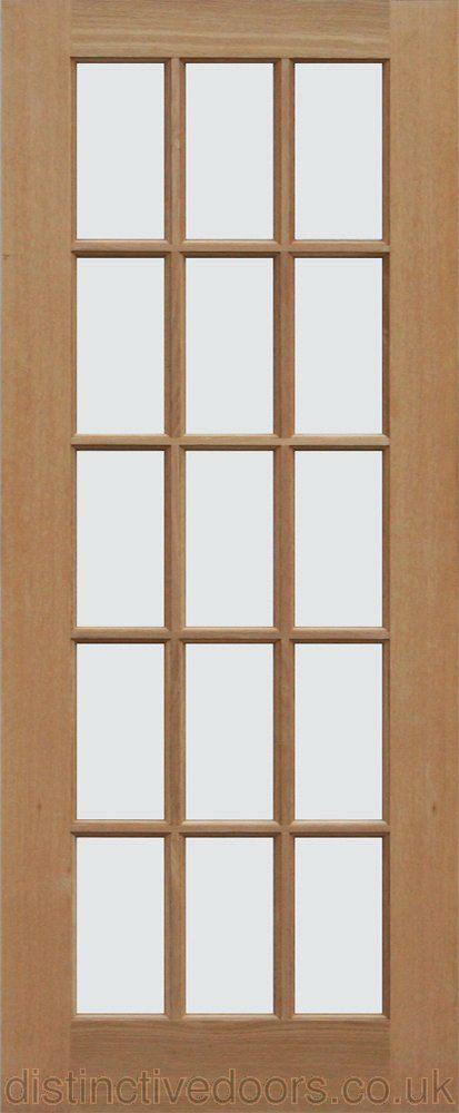 Glazed Door sa77 bevel glazed oak internal door | internal doors | pinterest