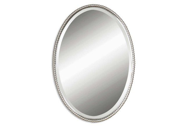 Oval Mirror Nickel Oval Wall Mirror Mirror Wall Mirror