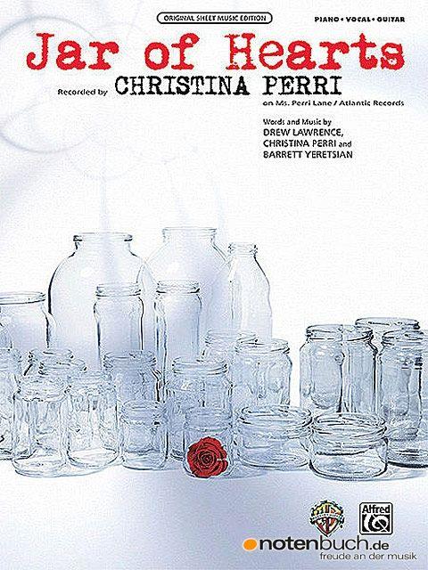 JAR OF HEARTS - die neue Einzelausgabe von Christina Perry, bekannt durch den Twilight Soundtrack, bei uns im Onlineshop zu kaufen!