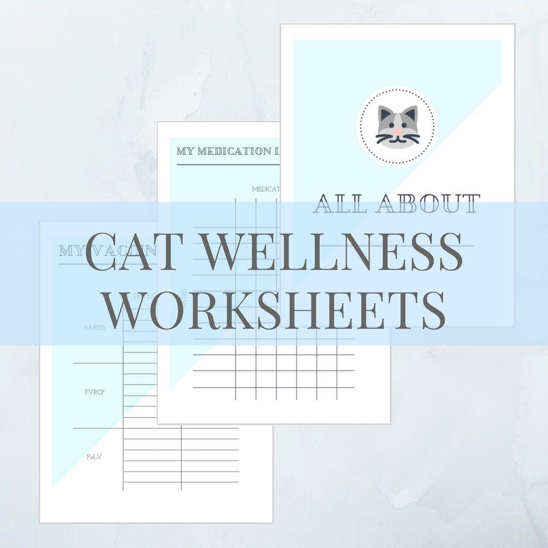 Printable Cat Record Set Blue