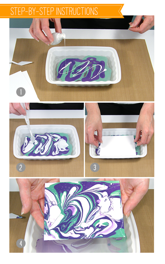 Nail polish marbling technique, as seen on the Wplus9 design blog ...