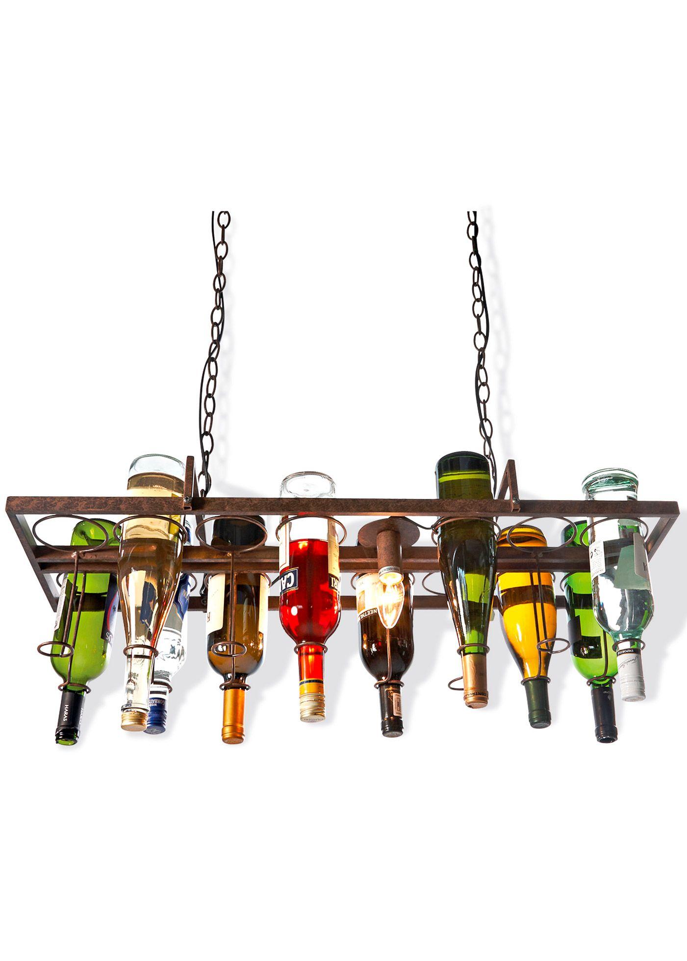 """Deckenleuchte """"Bottle"""" schwarz - Home Collection jetzt im Online Shop von bonprix.de ab ? 159,99 bestellen. Schwebende Deckenleuchte. Wo dieses Licht ist, ..."""