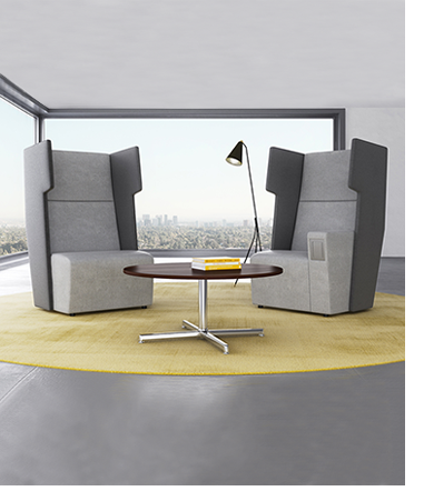 Introducing the focal point lounge seating available in a for Furniture configurations for small spaces