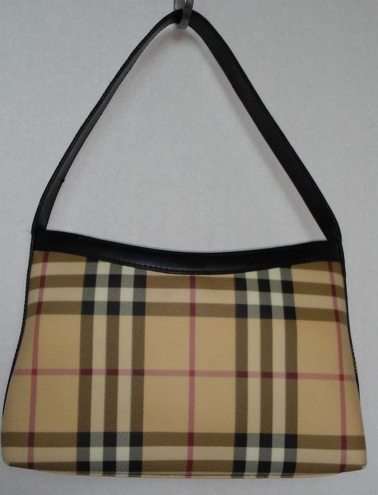 47b78e8d07 Burberry Nova Check Small Purse Handbag Bag Coated Canvas and Leather  Excellent #Burberry #NovaCheck