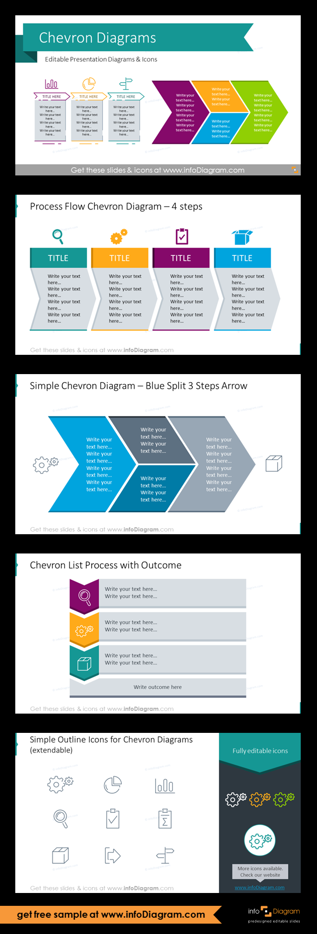 Chevron Timeline Diagrams Template Ppt Graphics Creative Process Flow Diagram Set Of Editable Powerpoint To Present Progress Steps Lists And Linear Processes
