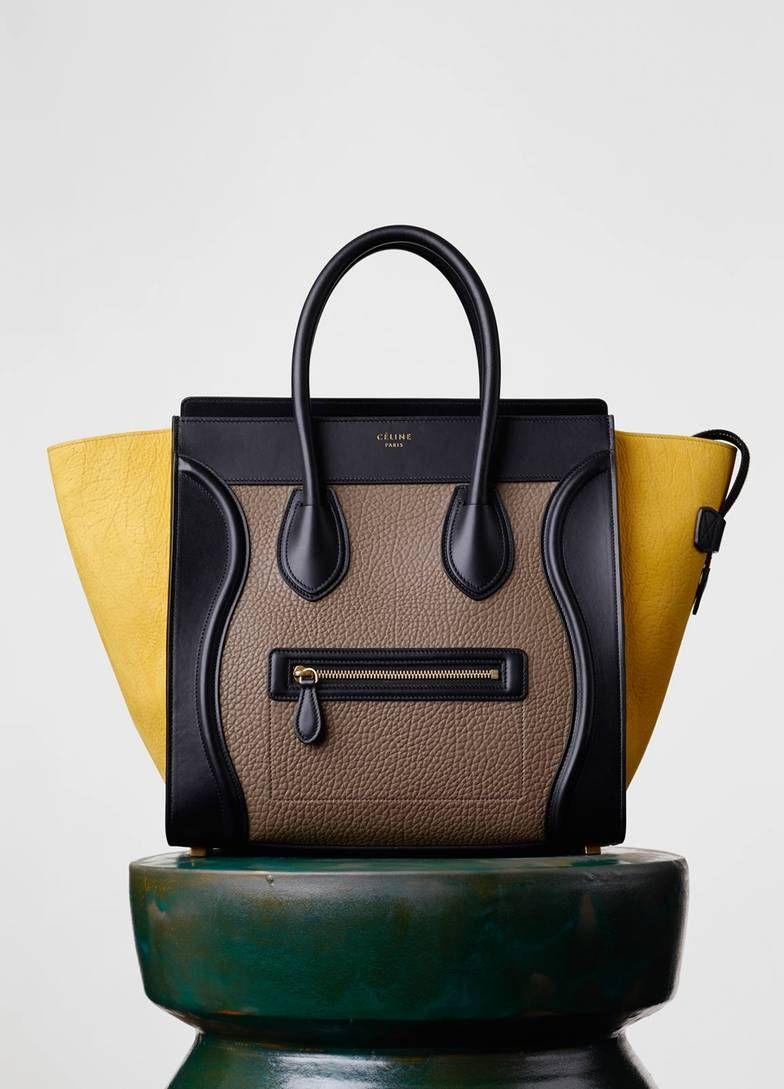 574cae475ef Céline (!!!) - Micro Luggage Handbag in Multicolor Bullhide   Bags ...