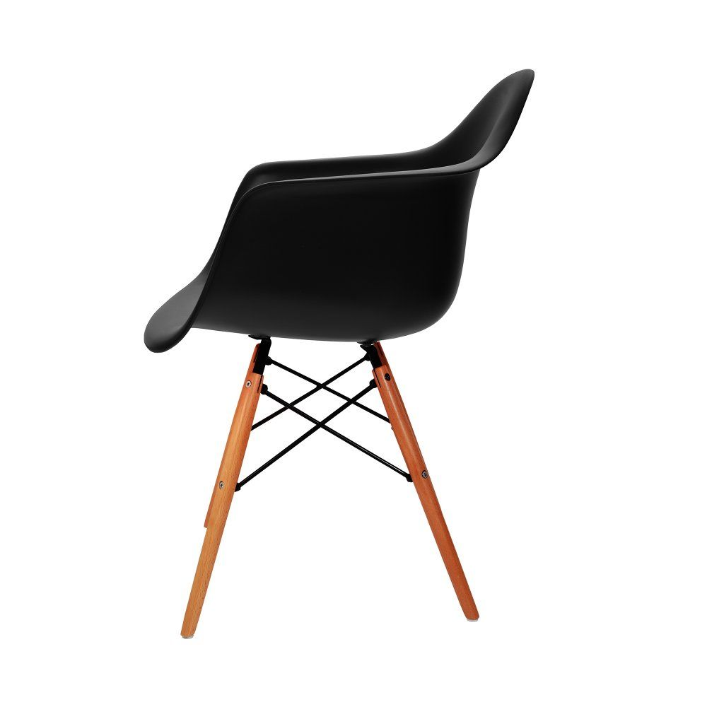 Charles Eames Charles Eames Style DAW Black Dining Chair   Charles Eames  From MDM FURNITURE UK