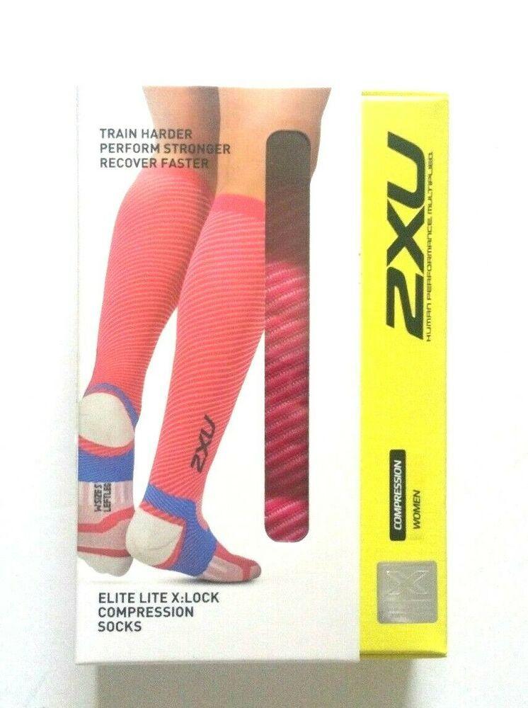 2XU Elite Lite X Lock Compression Socks White