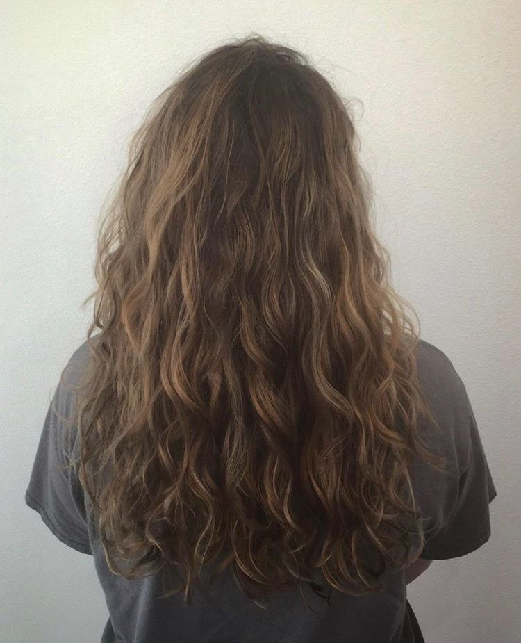 Soft Natural Waves With Devacurl Brown Wavy Hair Long Hair Waves Curly Hair Styles