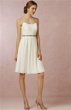 Braces Knee-Length Chiffon Wedding Dress $81